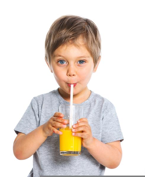 drinking-juice-straw